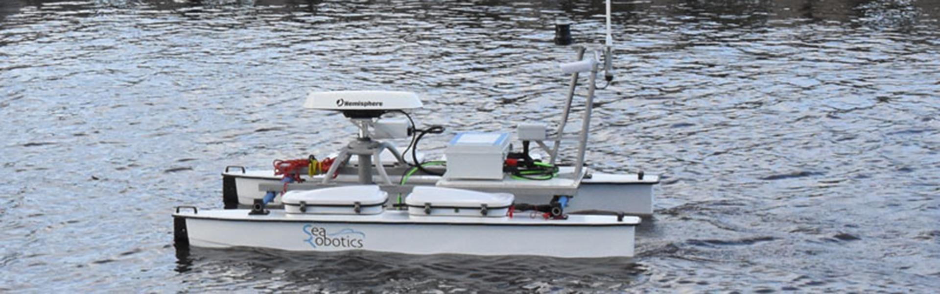 SeaRobotics Integrates SBG Systems' Ekinox-E (and Hemisphere's V320) into USV 2.5
